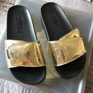Gold PINK slides!!